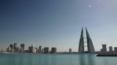 Manama Skyline during day zoom in - stock footage
