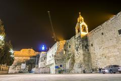 Church of Nativity, Bethlehem, Palestinian Autonomy, - stock photo
