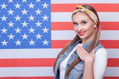 I respect United states of America - stock photo