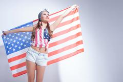 I deeply respect United States of America Stock Photos