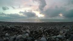 4K. Timelapse sunset on the Black sea. Pitsunda, Abkhazia. Ultra HD. 3840x2160 Stock Footage