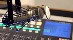 Sound recording - radio studio - stock footage