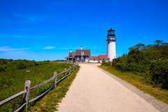 Stock Photo of Cape Cod Truro lighthouse Massachusetts US