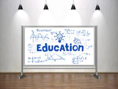 education concept on whiteboard - stock photo