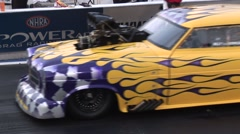 Classic Car Drag Race Stock Footage