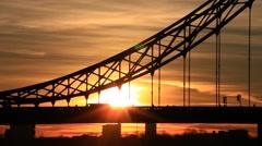 Tower Bridge at dusk ,London United Kingdom Stock Footage