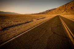 Desert Road in Southern California State. - stock photo