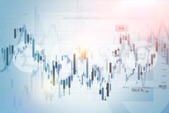 Forex Trading Index Concept Background Illustration. - stock illustration