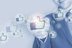 Social Media Marketing Investment Concept Illustration - stock illustration