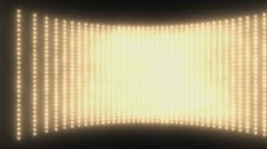 Wall of lights Gold  - stock footage