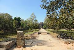 Track to the temple in Cambodia Stock Photos