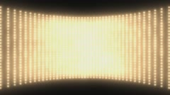 Wall of lights Gold  Stock Footage