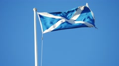 Scotland Flag Waving Stock Footage