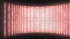 Wall of Lights Red  Stock Footage