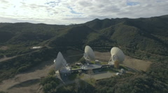 Satellite Earth Station installation in a remote  valley location Stock Footage