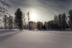Winter Park ,  snow. - stock photo