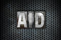 Aid Concept Metal Letterpress Type - stock illustration
