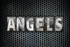 Angels Concept Metal Letterpress Type - stock illustration