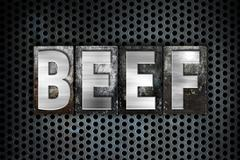Beef Concept Metal Letterpress Type Stock Illustration