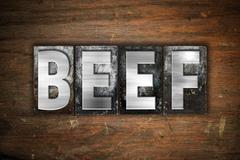 Beef Concept Metal Letterpress Type - stock illustration