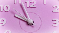 Pink clock surface Stock Footage