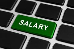 salary button on keyboard - stock photo