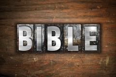 Bible Concept Metal Letterpress Type - stock illustration