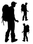 Outdoor activities Pictograms people Man Icon Sign Symbol - stock illustration