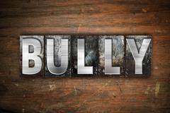 Bully Concept Metal Letterpress Type - stock illustration