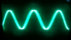 Electronic sine waves form Stock Footage