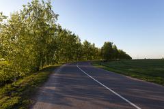 Spring road ,  countryside Kuvituskuvat