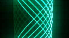 Flashes electronic with two lines D Stock Footage