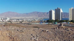 View to Eilat city Stock Footage