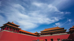 4K Time-Lapse: China Beijing, Forbidden City. Stock Footage