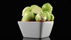 Fresh brussels sprouts Stock Footage