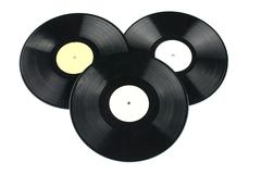 Vinyl discs on white background Stock Photos