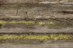 Stock Photo of old log house wall background