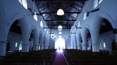Interior of the Church Stock Footage