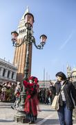 Disguised Person - Venice Carnival 2012 Stock Photos