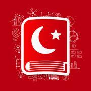 Drawing business formulas: koran - stock illustration