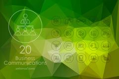 Set of business communications icons Stock Illustration