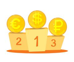 The currency exchange dollar, euro, ruble icon. Stock Illustration