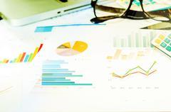 Business documents marketing Stock Photos