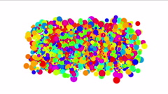 4k Abstract circles,bubbles blister background,dots fireworks particles foam. Stock Footage