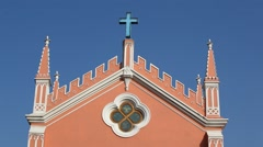 Traditional village Church Stock Footage