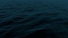 Stock Video Footage of Dark Ocean Loop