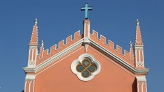 Vintage church at Swiss Stock Footage