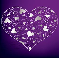 Stock Illustration of Elegant filigree heart in vector format..
