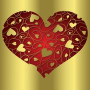 Stock Illustration of Elegant cut out filigree heart in vector format..