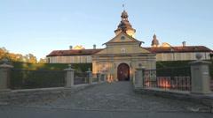 Radziwill castle in Nesvizh, Belarus Stock Footage